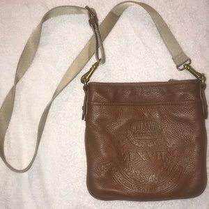 Leather Ralph Lauren Cross Body Bag